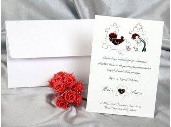 Invitatii nunta cu puzzle