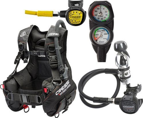 Cressi Sub Start Pro Scuba BCD, Compact Reg, Gauge Package (Medium) - http://scuba.megainfohouse.com/cressi-sub-start-pro-scuba-bcd-compact-reg-gauge-package-medium/