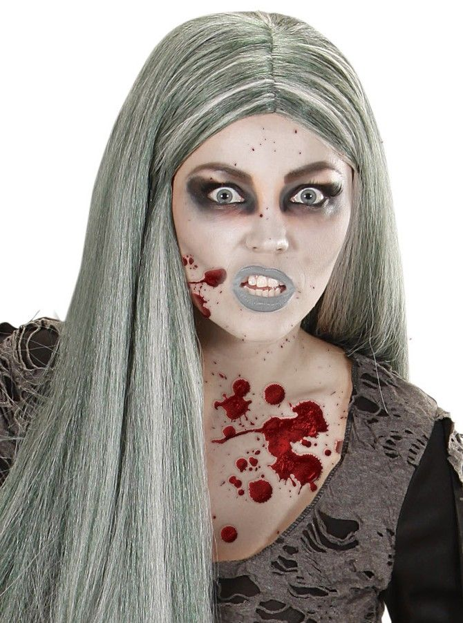 Kit maquillage zombie adulte Halloween : Ce kit de maquillage est composé d'un flacon de liquide latex, d'un flacon de faux sang, d'un crayon, d'une éponge, d'un pinceau et de trois fards.Ces derniers sont...