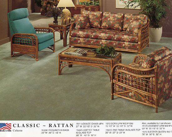 Caliente Wicker Collection from Classic Rattan  Model 1500. 52 best Furniture Made in USA   Classic Rattan images on Pinterest