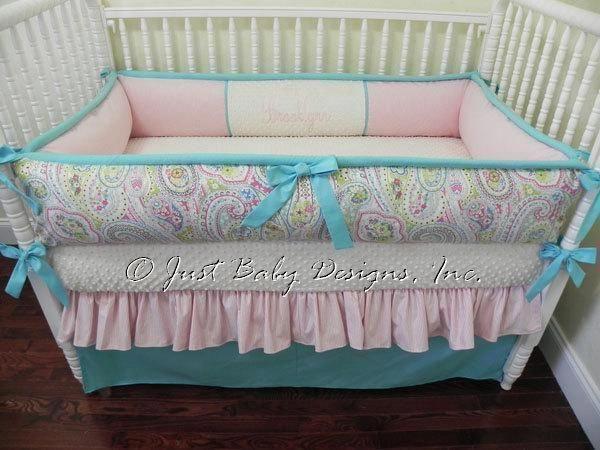 Custom Crib Bedding Set Brooklyn, Brooklyn Crib Bedding