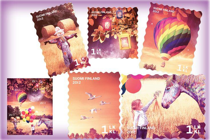 €4.25 Syysuni - viiden (5) postimerkin pienoisarkki