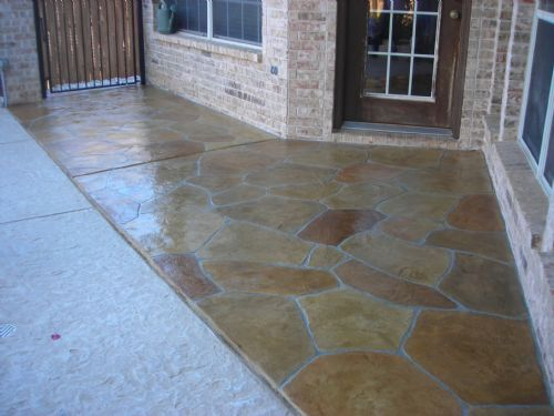 Limestone Overlay On Residential Patio