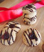Πανεύκολα, Νηστίσιμα Μπισκοτάκια με Φυστικοβούτυρο και Μαρμελάδα (Thumbprint Cookies)