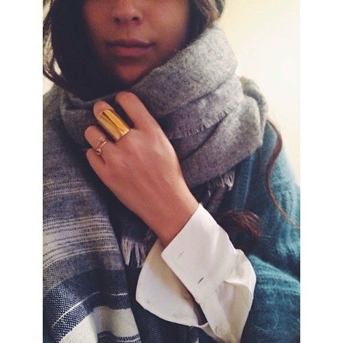 Stay wrapped up in scarves...