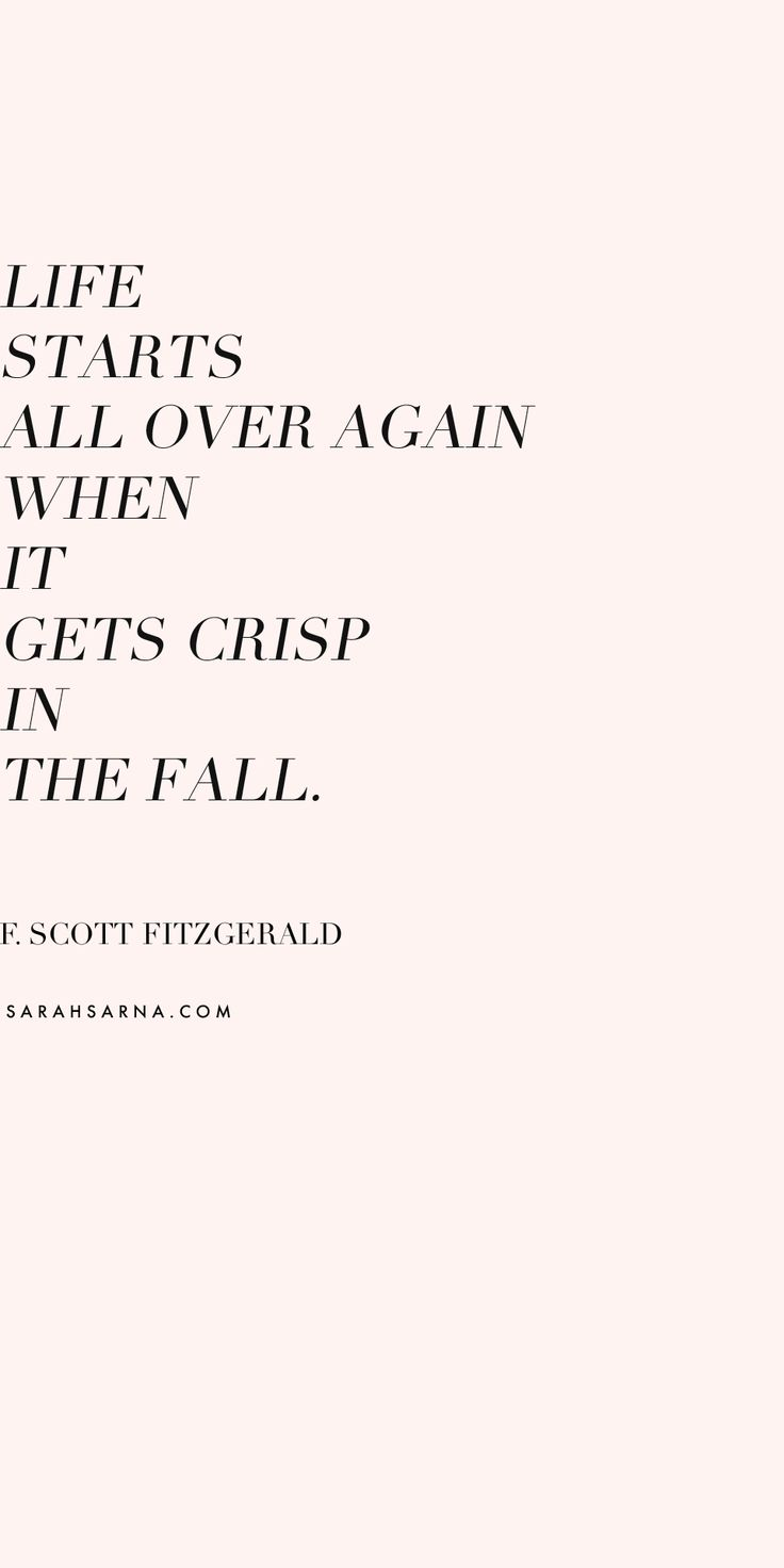 Life starts all over again when it gets crisp in the fall. F. Scott Fitzgerald Inspirational Quotes // Autumn in New York with Nathan Turner