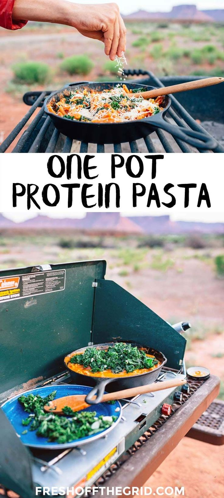 82 best vegetarian camping food images on pinterest camping foods this one pot camping meal is loaded with vegetarian protein from red lentil pasta its forumfinder Gallery