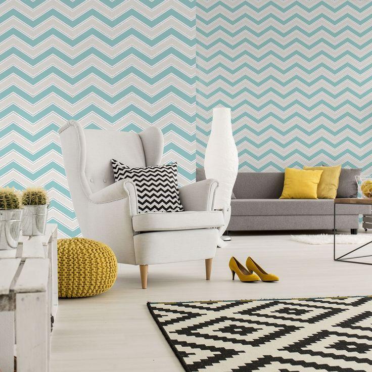 Coloroll Chevron Wallpaper