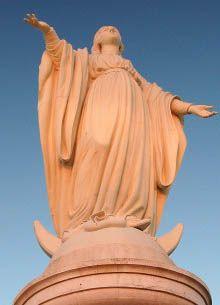 La virgen del cerro San Cristóbal esta embarazada