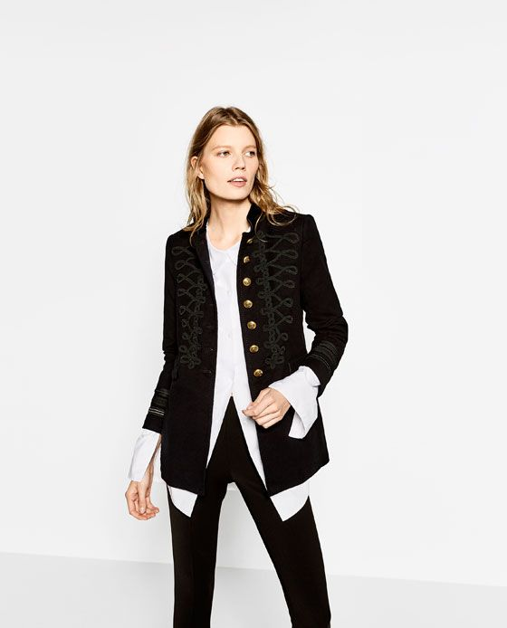 ZARA - WOMAN - VELVET MILITARY JACKET