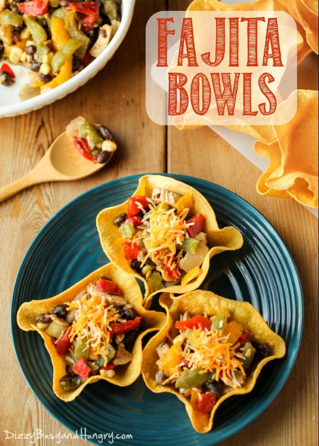 Fajita Bowls | DizzyBusyandHungry.com - Full of flavor and packed with veggie goodness, these fajita bowls are super-fun to eat and sure to please the whole family!