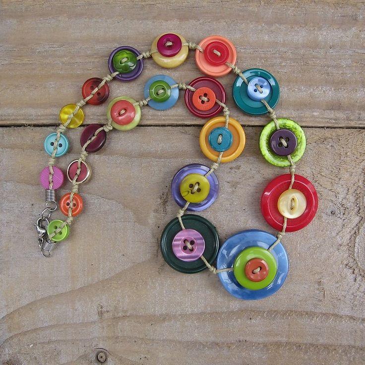 Warm cheerful button necklace
