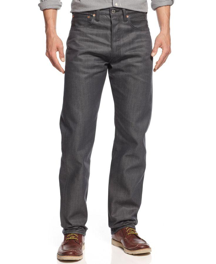 Levi's 501 Original Shrink-to-Fit Battleship Grey Jeans
