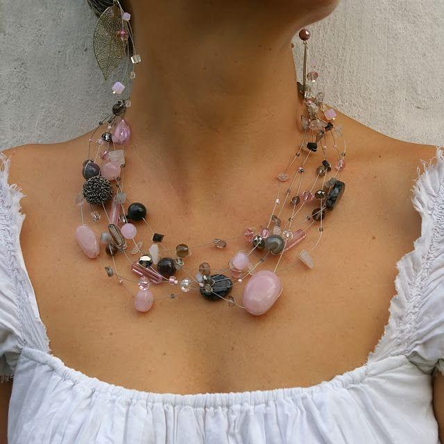 Украшения из натуральных камней: розовый кварц