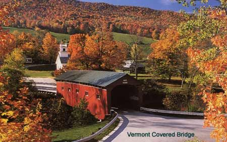 Foliage, covered bridges and churches=Vermont: New England, Fall Foliage, I Love Fall, Covered Bridges, Vermont Covers, Random Pin, Natural, Covers Bridges, Fall Color