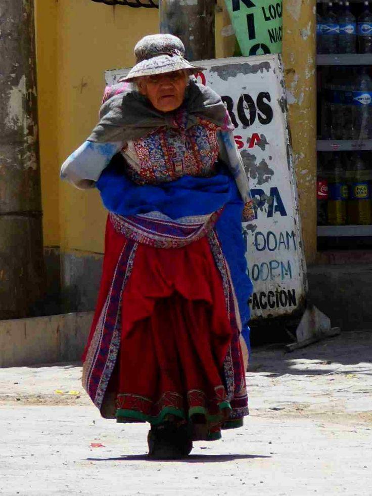 Old Peruvian woman, Cabanaconde.