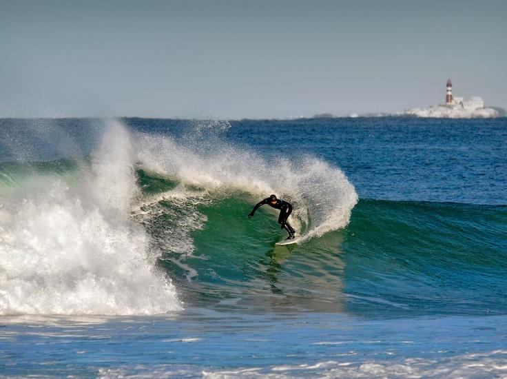 A surfers paradise! On the background #Feistein Fyr , #Jæren, #regionstavanger  Foto : Anne-Chr. P. Meling