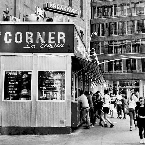 La Esquina, New York. An institution.  With a decadent basement. 114 Kenmare St., New York, NY 10012 (646) 613-7100 Website