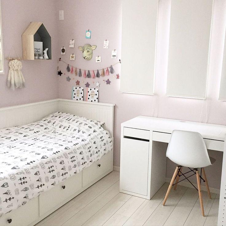 ピンクの壁/キッズルーム/アニマルマスク/momo natural/女の子の部屋…などのインテリア実例 - 2016-07-06 17:23:16 | RoomClip(ルームクリップ)