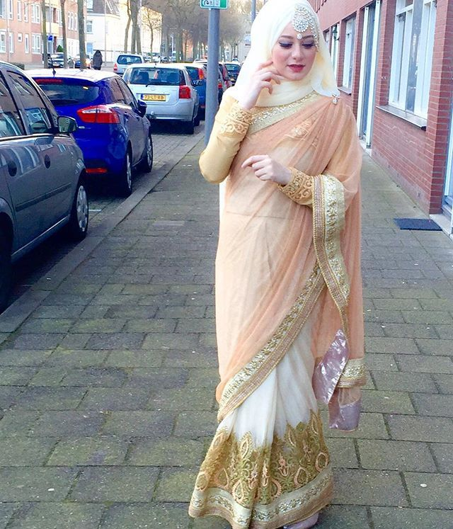 Desi hijabi sari