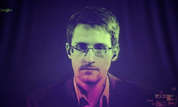 US National Security Agency (NSA) whistleblower Edward Snowden.