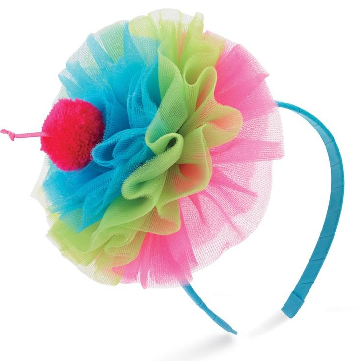 Tulle Cupcake Headband Blue