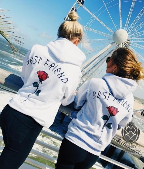 BEST FRIEND Couples Hoodies Matching Couple Sweatshirts