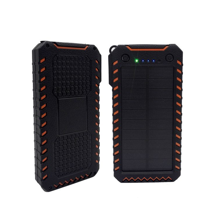 hoox 10000mAh 2-Port USB draagbare Solar-oplader: Amazon.de: Elektronik