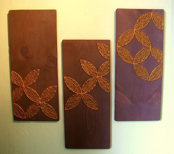 Circular Geometric Designs  Modern String Art   Set of by NineRed, $90.00 This is amazing work, there are many more.