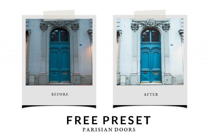 Free Lightroom Preset Parisian Doors - Chic Lightroom Presets & Brushes
