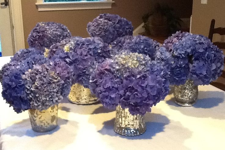Linda Nicolar..sent me this picture of the Hydrangea Table Arrangements she made with the hydrangea blooms we sent her on 9-02-14... Yes...Looking Good !!