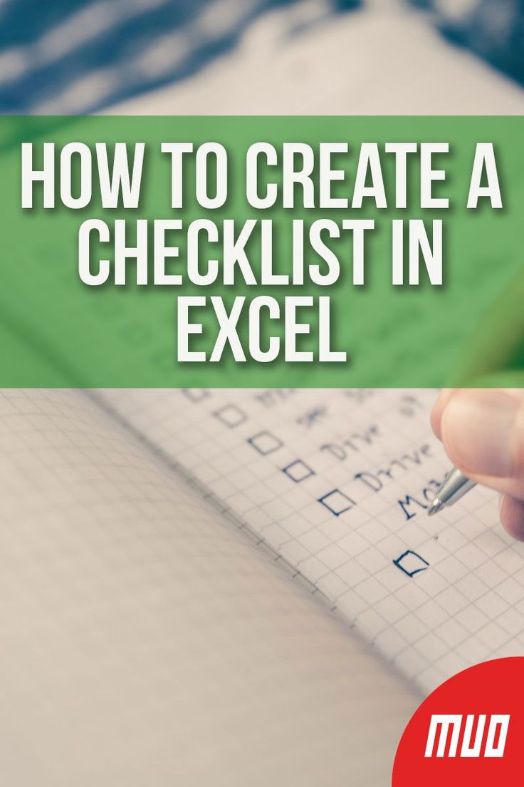 How to Create a Checklist in Microsoft Excel Microsoft