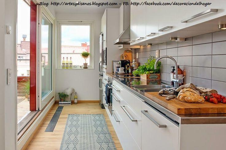 Decoración de Terraza integrada con Cocina by artesydisenos.blogspot.com