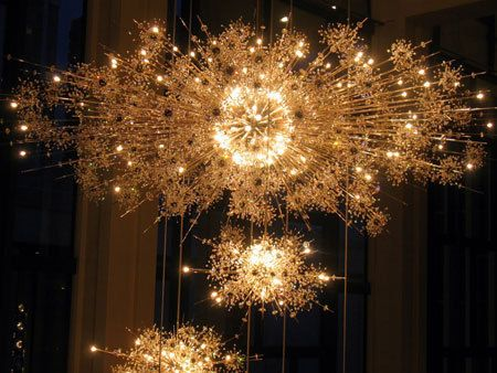 Things I Can't Live Without: The Lobmeyer Crystal chandeliers at the Metropolitan Opera House in Lincoln Center.  I get a thrill of anticipation as the house lights darken & the chandeliers start their accent to the gold leafed ceiling.  A night at the opera!  Wheee!