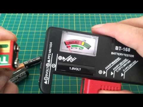 Overview BT-168 Tester AA AAA C D 9V 1.5V Button Cell Battery Volt Voltage Tester Checker Indicator - YouTube