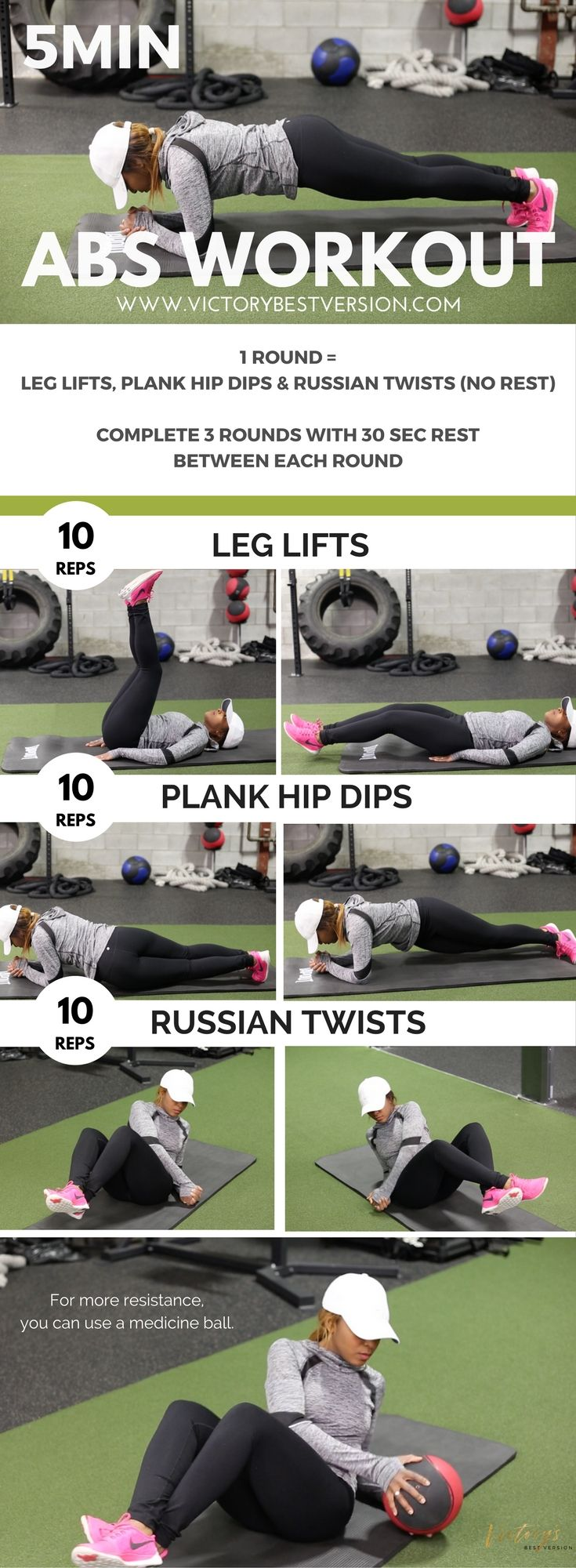 Burn That Lower Belly Fat With This Quick Abs Workout! — Victory's Best Version