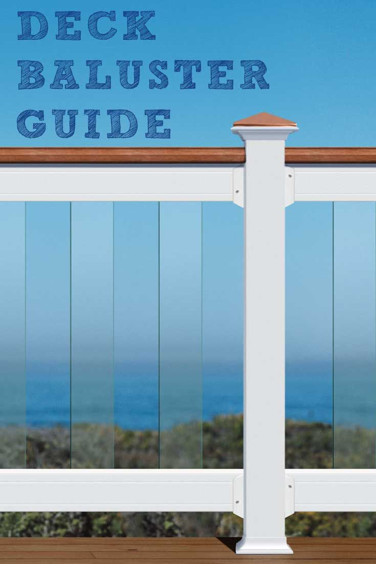 Deck Balusters Guide.  Your DIY Guide to all things deck balusters.  Want a quick and easy way to refresh your wood deck, add new balusters.  Our guide takes you through style, design, and installation.  It is everything you need to get your project done.
