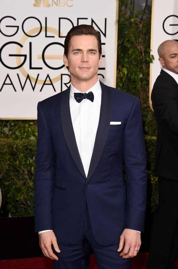 Wonderful to see you again, Matt Bomer. | 16 Times The Guys Actually Stole The Golden Globes Red Carpet From The Ladies