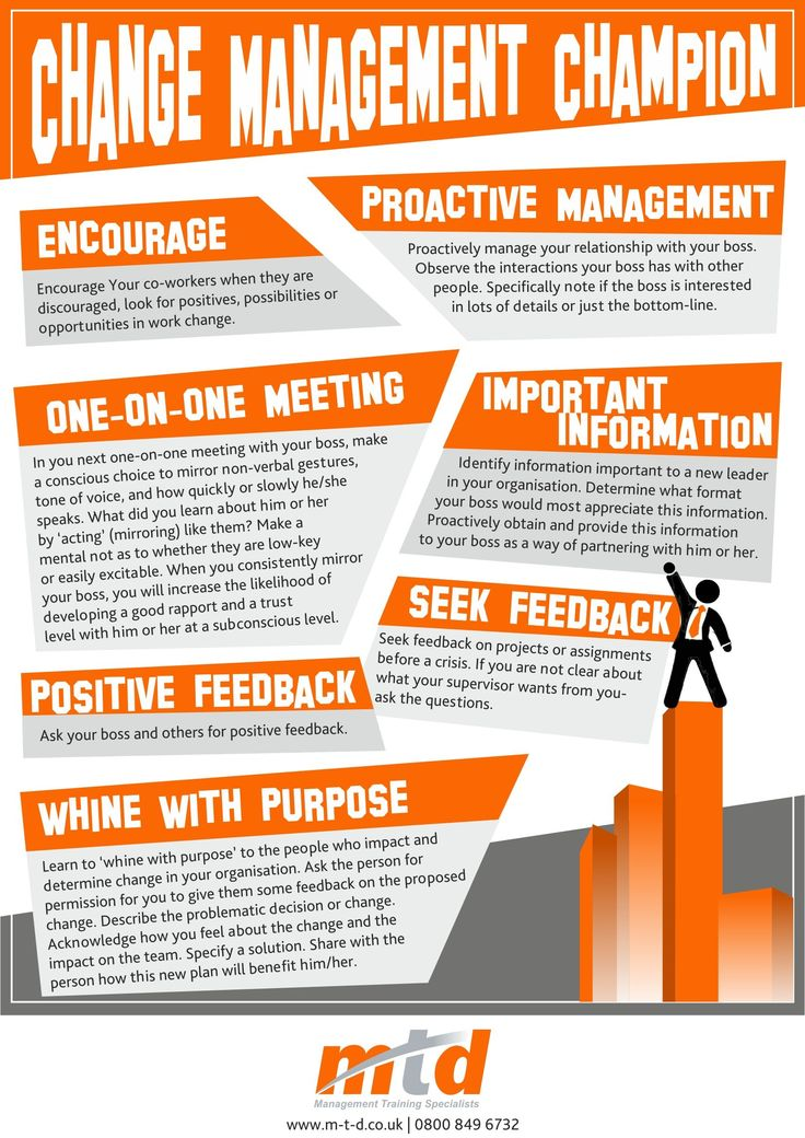 Get Yourself And Your Team Recharged With This Awesome Infographic- Summing Up 7 Great Tips To Becoming A Change Management Champion!
