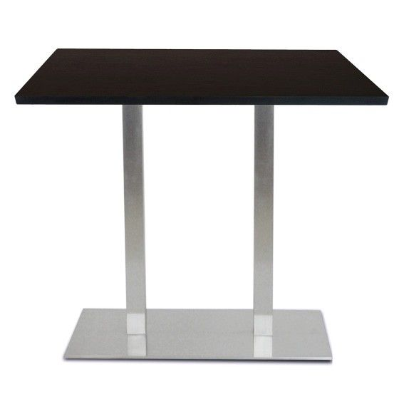 perfect table mange debout base ultra plat en inox bross avec plateau t one with comment. Black Bedroom Furniture Sets. Home Design Ideas