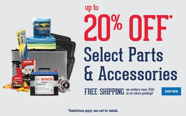 20 Off Any Online Order Of Select Parts And Accessories Enter