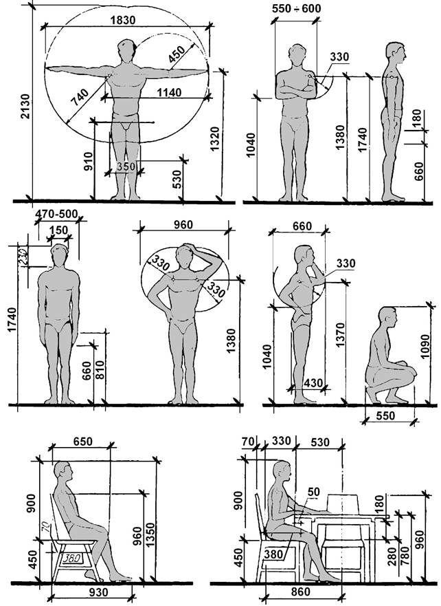 антропометричность размеры стул - Поиск в Google