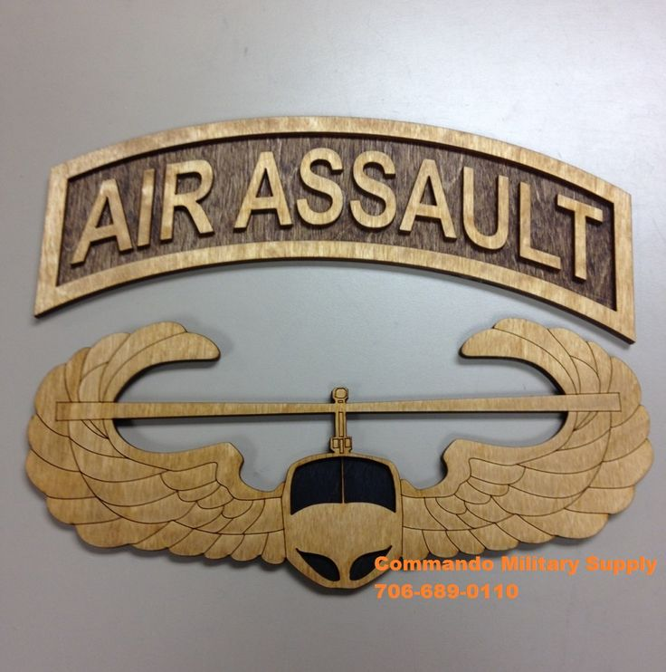 Custom designed wooden Air Assault plaque. Other designs ...