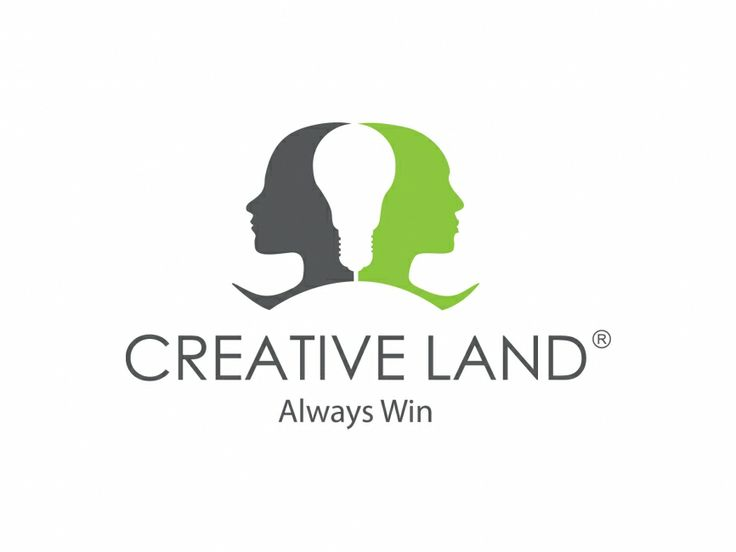 there are 2 people in the logo, with the back simulating the shape of a light bulb, referring to the creative ideas that they can think of.