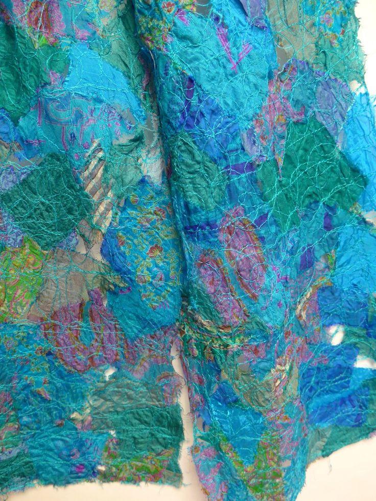 Tuto : Echarpe en soie avec l'hydrosoluble