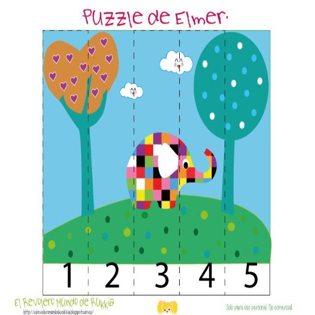puzzle kids, puzzle para niños, cuento elmer, juego elmer, cartas de memoria para niños, Elmer the Elephant, Elmer the Elephant game, Elmer the Elephan activities, elmer actividades, Elmer the Elephan pdf