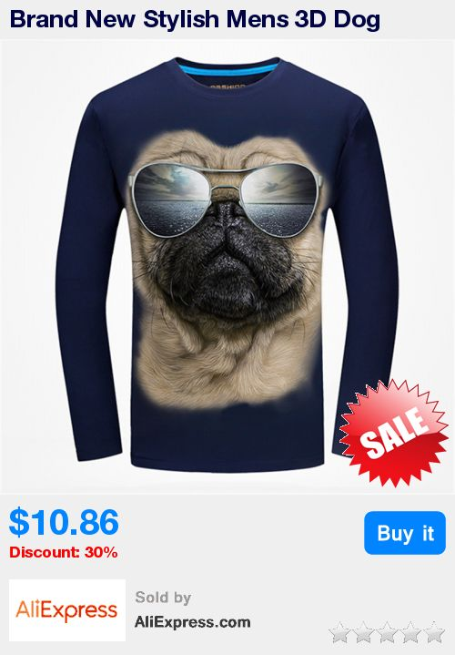 Brand New Stylish Mens 3D Dog Pirnted T shirt 2017 Spring O neck Long Sleeve Casual Tee Tops Male Fashoin Hipster T-shirt * Pub Date: 10:16 Jul 9 2017