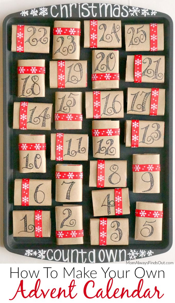 An Advent Calendar is a tradition to celebrate the days leading up to Christmas. This calendar uses numbered matchboxes filled with candies or trinkets. How To Make a #DIY Advent Calendar Craft Directions at @momfindsout