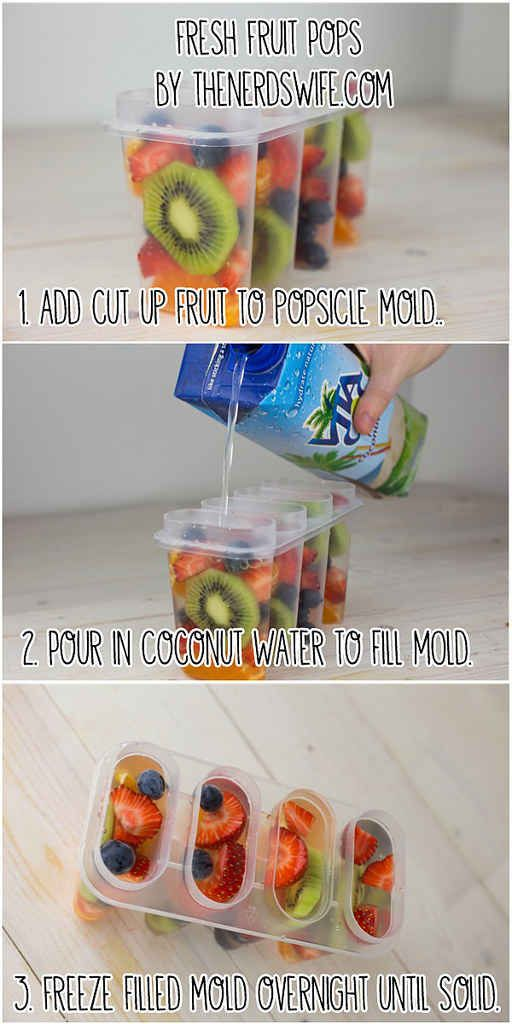 Follow these deliriously simple steps to make fresh fruit pops.