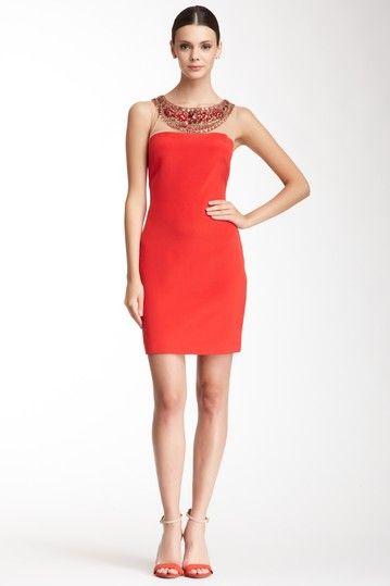 Notte By Marchesa Silk Encrusted & Mesh Short Dress by Notte By Marchesa on @HauteLook